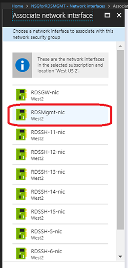 Associate network interface