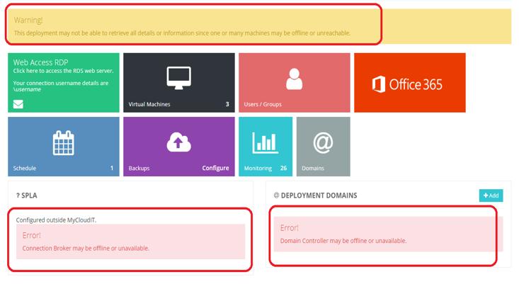 MyCloudIT Portal Error