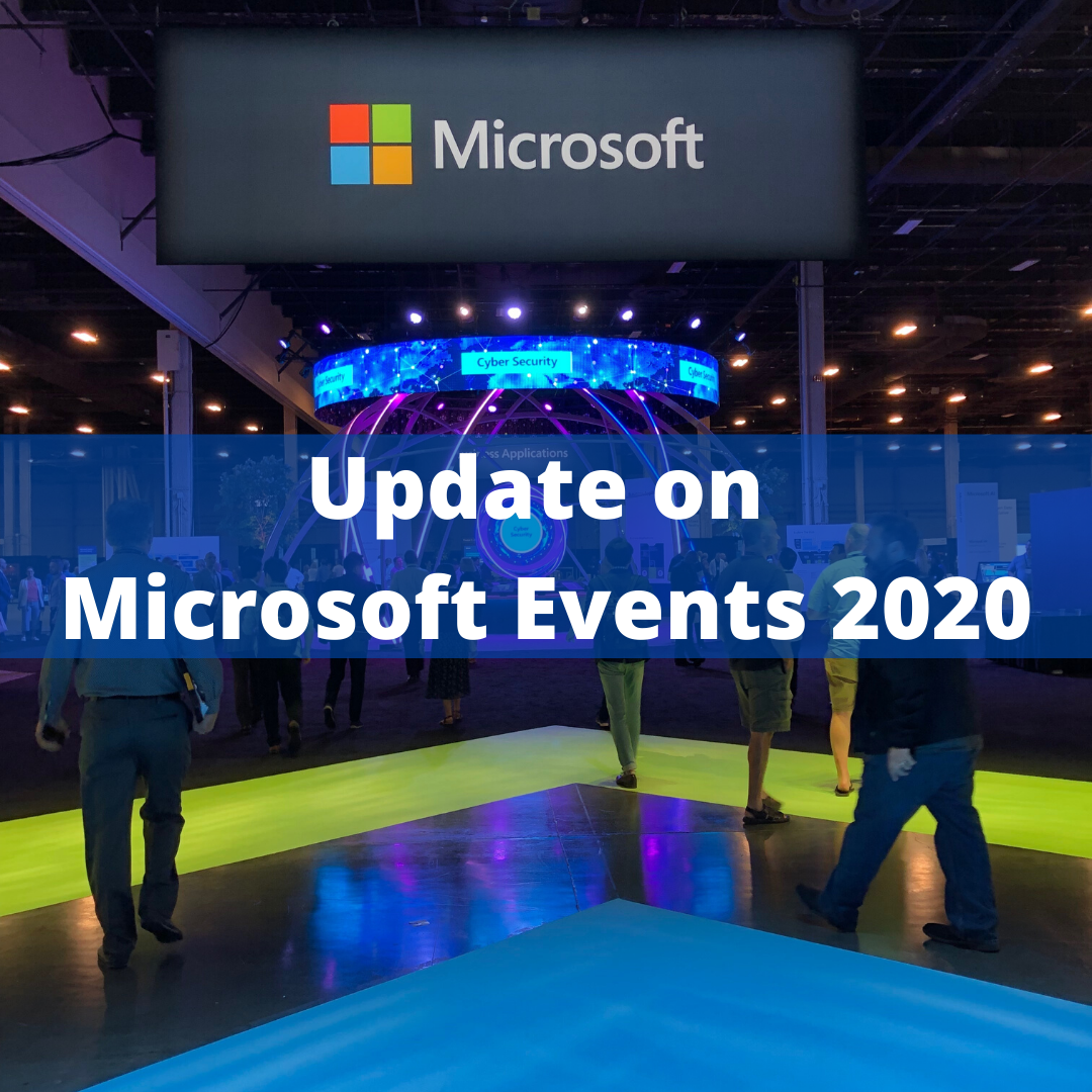 Update on Microsoft Events for 2020
